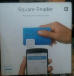 NIB Square - Magstripe Reader with Lightning Connector - Glossy White