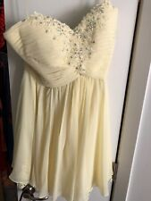 la femme yellow Cocktail dress size 6