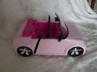 Barbie Pink Convertible Car Doll Mattel Vehicle