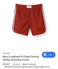 LACOSTE Men's Longboard Swimming Trunks