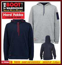 Hard Yakka Y19326 Foundations Brushed Fleece Hoodie. Extra Pockets / Large Sizes