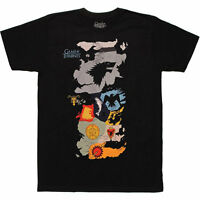 Game of Thrones Westeros Sigil House Map T-Shirt