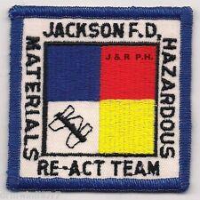 "HazMat - Jackson  Haz-Mat Re-Act Team, TN  (3"" x 3"" size) fire patch"