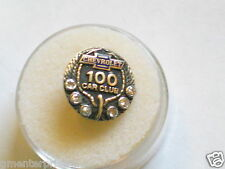 Chevrolet 100 Car Club Pin   Gold & Diamonds , (Tray1Row1) *