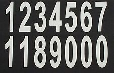 personalised fabric printing  iron on LARGE 90mm white numbers  custom print