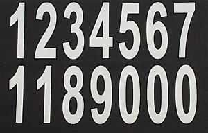 personalised  printing  iron on LARGE 90mm white numbers  custom print