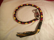 biker whip getback motorcycle black red and yellow TEXAS CORAL SNAKE!!!!!