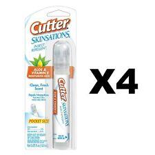 Cutter Skinsations Insect Repellent 0.475oz Pen-Size Pump Spray 7% DEET (4-Pack)