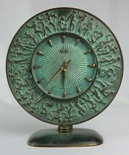 Raro Art Deco Patinado Bronce Kienzle Reloj de mesa por el Prof. Fritz Nuss, c1930/40