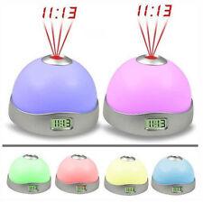 Starry Digital Magic LED Projection Alarm Clock Night Light Color Changing #Cu3