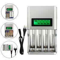Universal 4 Akku Ladegerät Charger Batterie Aufladegerät AA AAA Schnelladegerät.