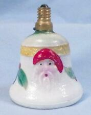 Vintage Christmas Tree Light Santa Face in a Bell Electric Figural C6 As Is #7