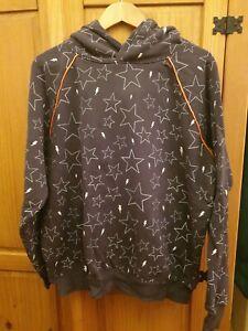 Scamp & Dude Grey Star print Hoodie Size XL