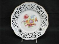 """Shuman Arzberg Tradition 10 1/2"""" Pierced Floral Service Plate Bavaria Germany"""