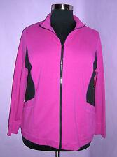 AVENUE Zipper Jacket Size 18/20 Pink & Black NWT Retail $48