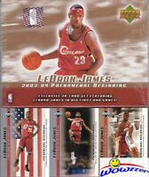 2003 UD Lebron James 21 Card ROOKIE FACTORY SEALED Box Set-Look for $10,000 Auto