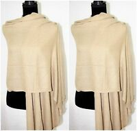 Scarf 100% Cashmere Shawl Knit Wrap Blanket Pashmina Soft Warm Winter Gift Item
