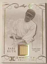 BABE RUTH 2017 Leaf IMMORTAL Game Used BAT GOLD #3/5 *NY YANKEES* 1/1 JERSEY #!!