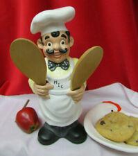 "New listing Vtg Happy Chef Baker Cook Kitchen Utensil Holder Storage Spoon Caddy 11"" ceramic"