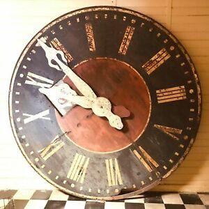 Grande façade d'horloge en tôle patinée XX siècle