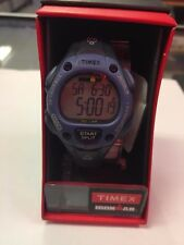 Timex Women's TW5M14100 Ironman Blue Resin Strap Watch *NEW IN OG BOX*