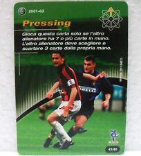 FOOTBALL CHAMPIONS Italiano 2001-02 - PRESSING - carta azion 43/80 VIERI-MALDINI