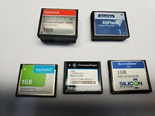 Lot of 15 Various 1 GB Compact Flash Cards. Advantech, SanDisk, Swissbit, Delkin