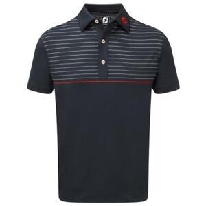 Footjoy Mens Golf Lisle Engineered Pin Stripe Shirt 90089