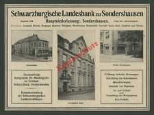 Reklame Schwarzburgische Landesbank Sondershausen Suhl Thüringen Finanzen 1920