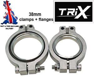 Tial MV-S 38mm 2pc V-band Stainless Steel Flange Clamp Wastegate V Band MVS TRiX