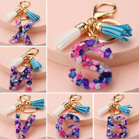 Acrylic Letter A-Z Keyring Keychain Key Ring Chain Charm Bag Pendant Ornament