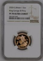 2020 Great Britain Sovereign King George III Privy Gold Proof NGC PF70UC Top Pop