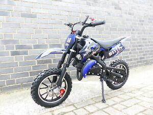 Pocketbike Dirtbike Pocket Cross 49cc Kinder Cross Crossbike KXD 708 Blau