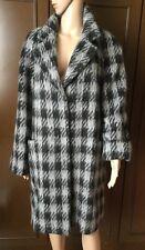MAX MARA Women's jacket, black-gray, size 23 175 / 112Y   Giaccone Donna, lana