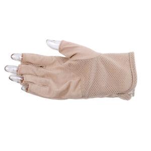 Mens Women Thin Fingerless Summer Magic Gripper Gloves Anti-skidding Mitten IT