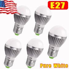 5X E27 Energy Saving LED Bulb Light Lamp 3W Cool White 110V Globe Ball Lamp Bulb