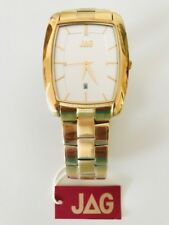 NEW Jag Mens Watch Gold Stainless Steal J1112A