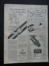 ORIGINAL 1954  MAGAZINE ADVERT FOR ROLEX -TUDOR OYSTER PRINCE WATCH