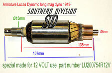 LUCAS E3LM Dynamo armature Mag Dyno 60W 200754 made for 12 VOLT use Norton BSA