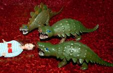 3 hermosas Kaiju monstruo > como Godzilla Rhodan etc 90er años longitud aprox. 20cm