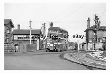 pt9871 - Doncaster Bus FDT 827 at Rossington in 1956 , Yorkshire - photograph