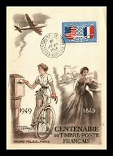 Dr Jim Stamps Relations France Usa First Day Issue Maximum Card