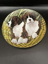 "Danbury Mint Boxers Simon Mendez 8"" Plate #A7105 Two of a Kind Euc"