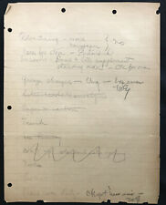 """Thomas A. Edison - Autograph Signed Initialed """"Tae� Twice On Page Handwriting Nr"""