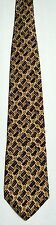 Men's New Silk Neck Tie, Brown Gray weave design by Guess