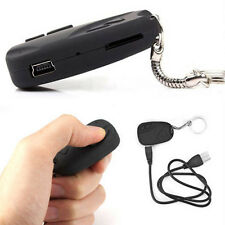 Black Mini Camcorder Car Key Chain Video Recorder Spy Covert Hidden Pinhole DVR