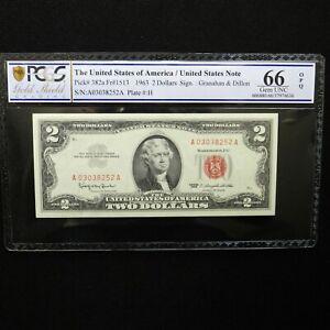 $ 2  1963  Legal Tender Note, Fr #1513, PCGS 66 OPQ Gem Unc