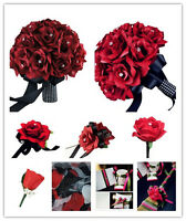 Build Your Wedding Flower Package- Apple Red Black theme - artificial Flowers