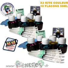 RECHARGE ENCRE- Pack X2 kits Encre Couleurs HP 85