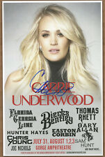 Carrie Underwood autographed gig poster